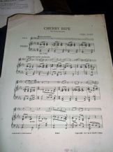 RARE ANTIQUE SHEET MUSIC 1911 VIOLIN & PIANO PARTS CHERRY RIPE CYRIL SCOTT